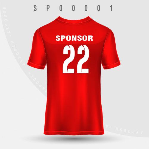 طرح تی شرت ورزشی مدل (SP00001)